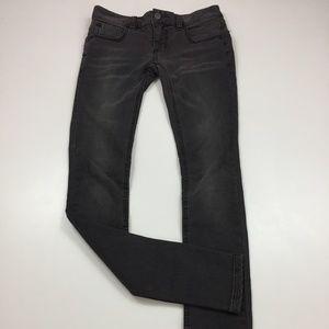 FREE PEOPLE Black/Gray Slim Fit Skinny Jeans
